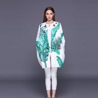 Custom Dress S 7XL 2016 Fall Winter Single Breasted O Neck Fashion Casual Leaf Of Japanese