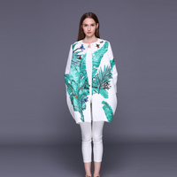 Custom Plus Size Dress S 7XL 2017 Fall&Winter Single Breasted O Neck Casual Leaf Japanese Banana Print Diamonds Dragonfly Coat