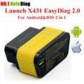 Rápido Frete grátis!!! 100% Original Lançamento X431 EasyDiag 2.0 código auto scanner Lançamento Fácil Diag 2.0 Para Android & IOS 2 em 1