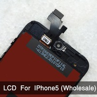 Black 100 Guarantee A LCD Display For Iphone5 Touch Screen Digitizer Assembly Tools Screen Protector For