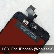 10 unids/lote para el iPhone 5 LCD montaje de la pantalla pantalla con cristal digitalizador No Dead Pixel AAA calidad envío gratis