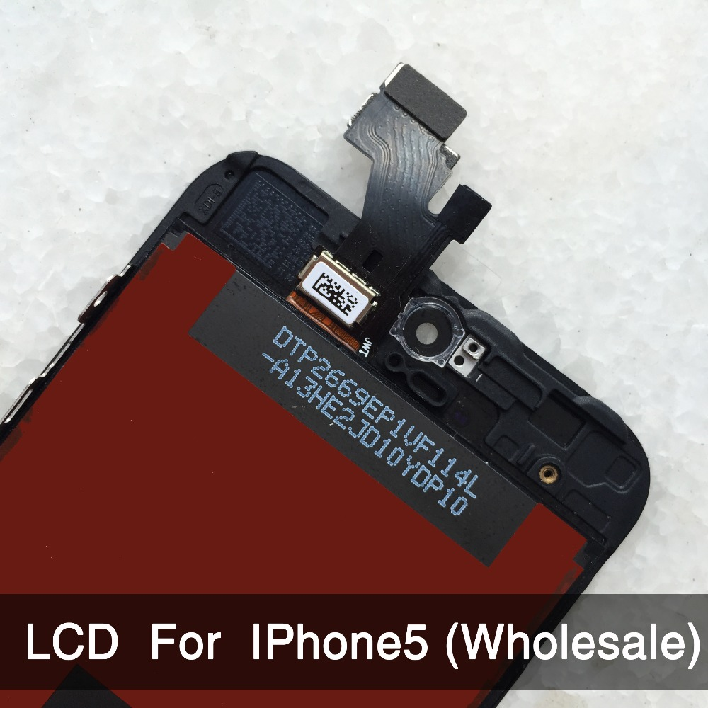 10PCS/LOT For iPhone 5 iphone 5c iphone 5s LCD Display Screen Assembly Replacement No Dead Pixel AAA Quality wholesale