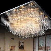 Salon Moderne carré En Cristal plafonnier lumières LED éclairage Intérieur Surface Mount hôtel led Plafond Lampe éclairage intérieur de la maison