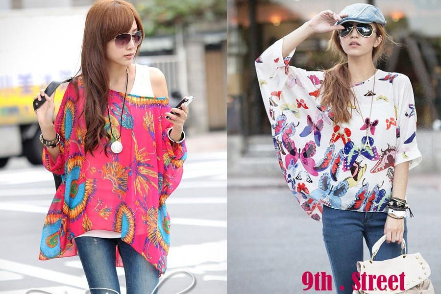 HTB1tUJ9LXXXXXbfXFXXq6xXFXXXR - New Fashion Summer Women's Shirt Boho Style Batwing Casual