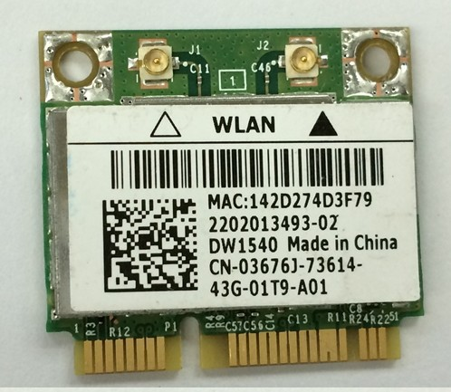 US $14 24 5% OFF|SSEA Wholesale New for DELL DW1540 for Broadcom  BCM943228HM4L Half mini PCI E Wireless Wifi Card 2 4/5GHz 300Mbps Free  Shipping-in