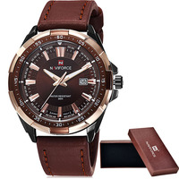 Reloj Hombre 2015 Brand Men Military Watches Leather Men Casual Quartz Watch Sport Wristwatch NAVIFORCE Relogio