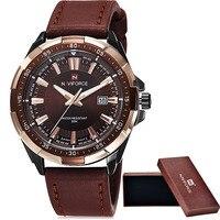 Reloj Hombre 2015 Brand Men Military Watches Leather Men Casual Quartz Watch Sport Wristwatch NAVIFORCE Relogio