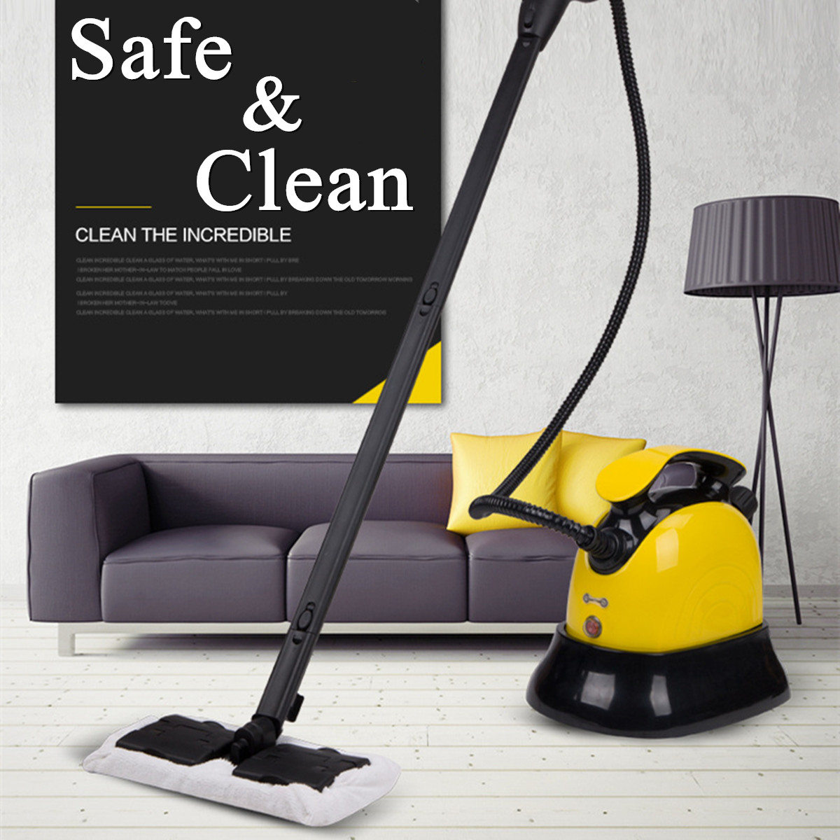 Warmtoo Household Electric Steam Cleaners Mop Handheld Floor Window Washers Mopping Broom Vacuum Cleaning Machine 220V EU