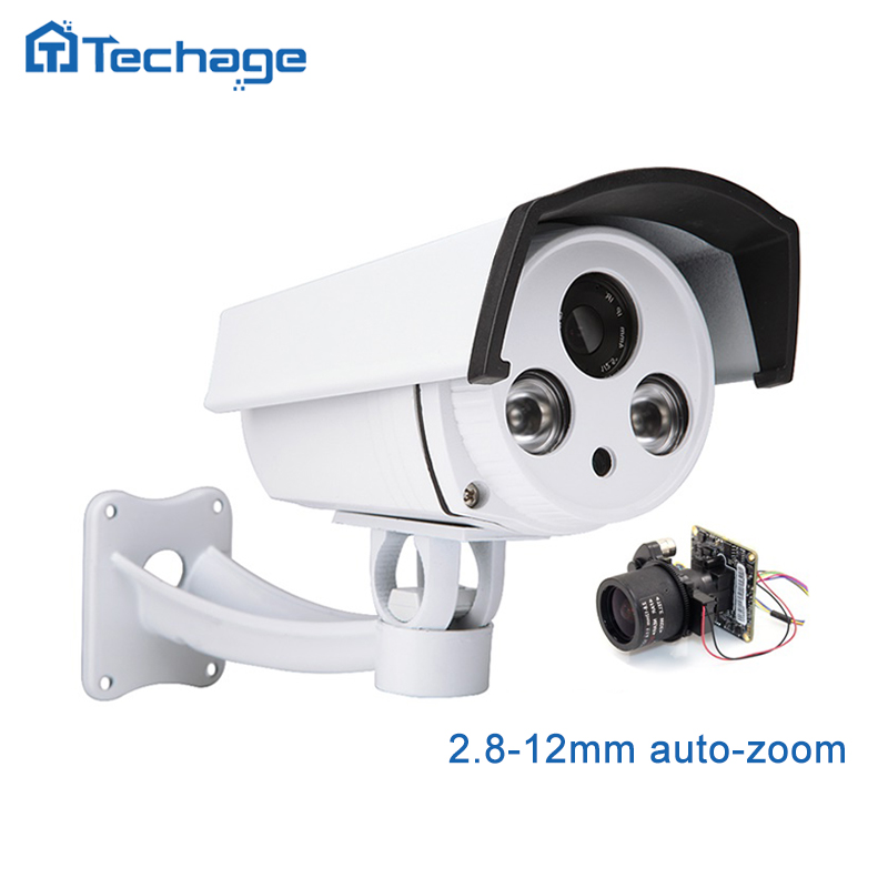 Techage 1080 P HD SONY IMX322 IP POE Kamera 2,8-12mm Motorisierte Auto Zoomobjektiv Außen Wasserdicht P2P ONVIF CCTV Überwachungskamera