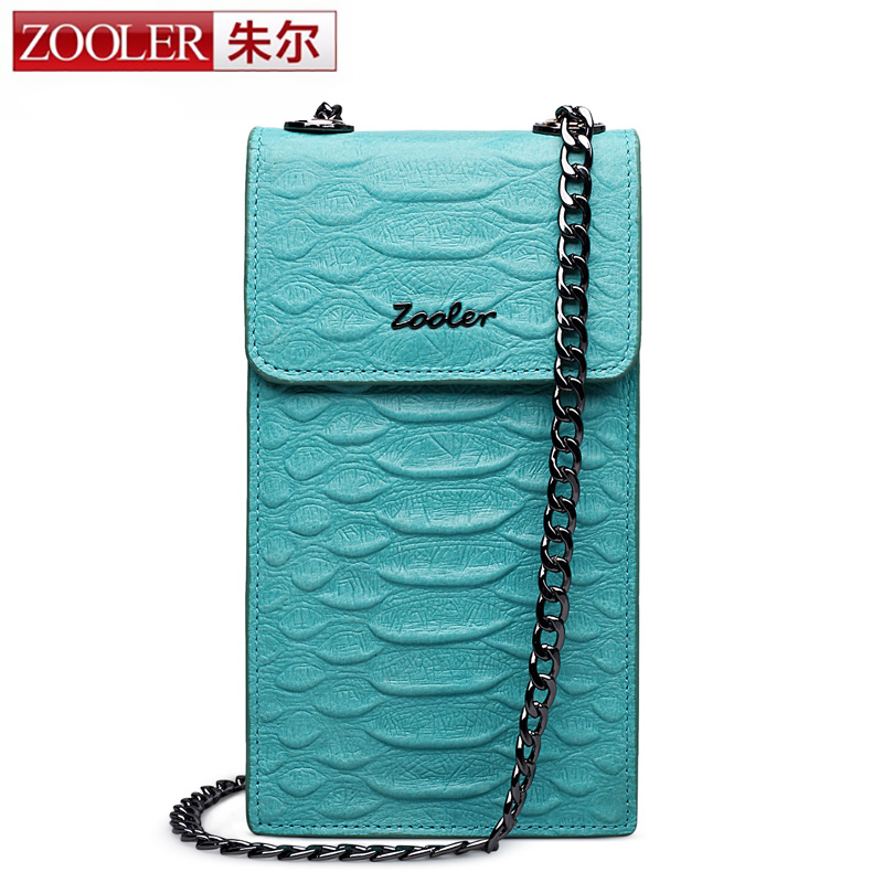 ZOOLER women leather bag small messenger bags chains stylish coin purses cross body bolsa feminina 3823