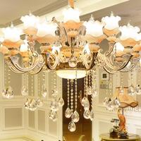 Modern Crystal Chandelier Living Room Decoration Tiffany Pendants and Chandeliers Home Lighting Indoor Lamp