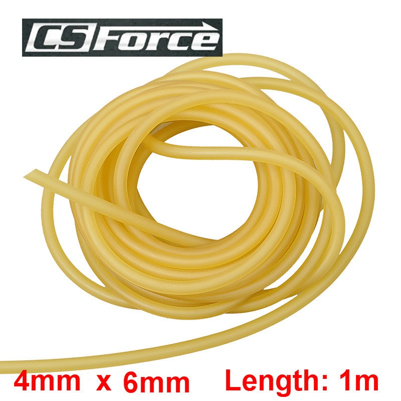 4mm X 6mm Latex 1M Elasticity Tube Fishing Fumbled Rope Slingshot Rubber Latex Fitness CrossFit Bands 4060 Hunting Accessories