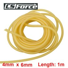 4mm x 6mm Latex 1M Elasticity Tube Fishing Fumbled Rope Slingshot Rubber Latex Fitness CrossFit Bands 4060 Hunting Accessories(China)