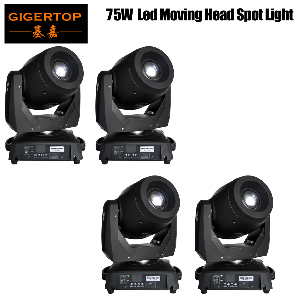 4XLOT 75W Led Moving Head Gobo Light DMX 15/19 Channel Led Moving Head Light 120W Electronic Focus 3 Facet Prism Effect 90V 240V|light dmx|moving head light|led moving head light - title=