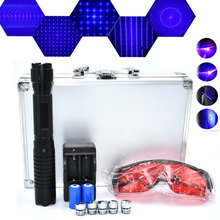 Powerful Hunting Lazer Tractical Blue Laser Pointers 450nm 1. sight Flashlight Burning Match/light cigars/candle