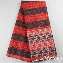2017 moda High-end Tecido de Renda Francesa Africano de Alta Qualidade Bordado Tule flor de Tecido de Renda líquida transparente Para O Casamento(China (Mainland))