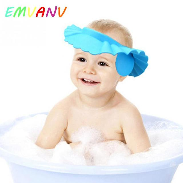 8d58e534d7f Hot Sale Soft Adjustable Baby Shampoo Bath Shower Cap Shampooing For Kids  Head To Baby Shower Hat Child Bathing Cap Bath Visor