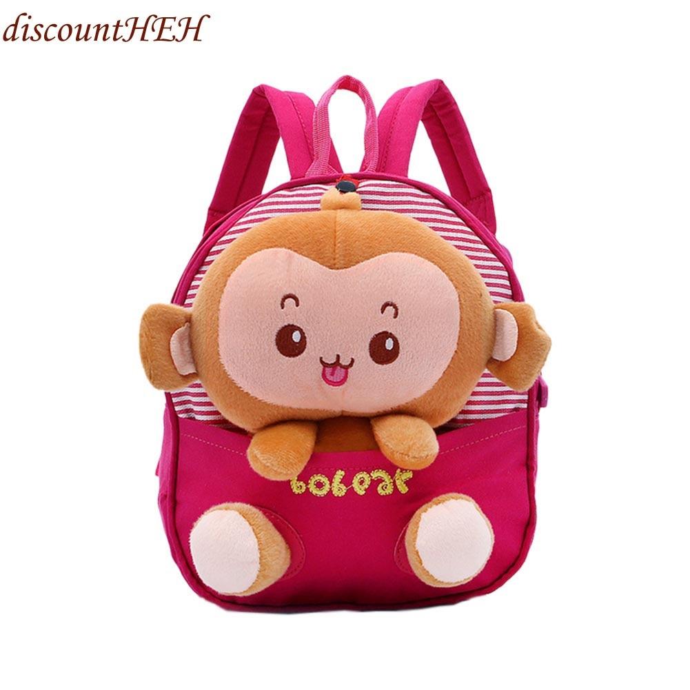 Luggage & Bags Dutiful Cute Little Monkey Small School Backpacks Kids Baby School Bags Animal Monkey Backpack For Girls Boys Kindergarten