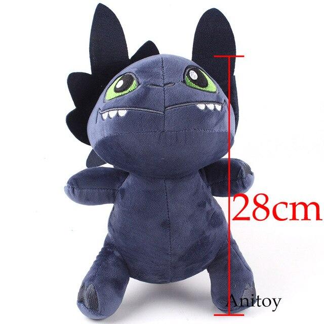 How To Train Your Dragon Plush Toy Night Fury Toothless Dragon Plush
