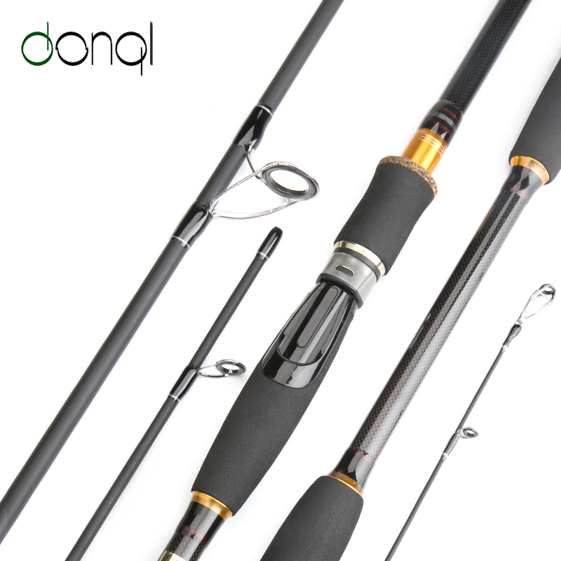 DONQL Carbon Fiber Fishing Rod Spinning Casting Travel Lure Rod 2.1m 2.4m 2.7m 3.0m 4 Section Fishing Tackle Accessories pedal straps healthrider amazon