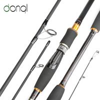 DONQL Carbon Fiber Fishing Rod Spinning Casting Travel Lure Rod 2.1m 2.4m 2.7m 3.0m 4 Section Fishing Tackle Accessories
