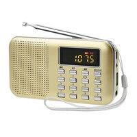 Universale Portatile Radio FM Digitale con la Luce del LED Schermo LCD Altoparlante Supporto Carta di TF 3.5mm Jack del Trasduttore Auricolare MP3 Music lettore