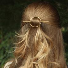 Vintage Simple Geometric Round Hair Stick for Women Girls Metal Hair Stick Pins Headwear Jewelry Bridal Hair Accessories