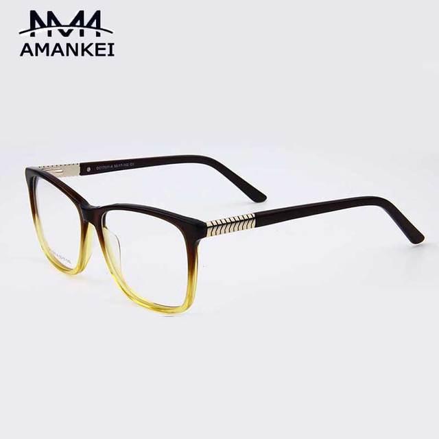 2a0bf7a5bb Marco de las lentes Para Mujer 2017 de la Nueva Llegada Mujeres AMANKEI  Gradiente Square Gafas