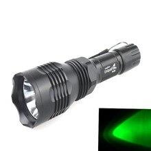 Маленькое солнце HS-802 CREE XR-E Q5 зеленый светильник 1-Режим светодиодный вспышка светильник(1x18650