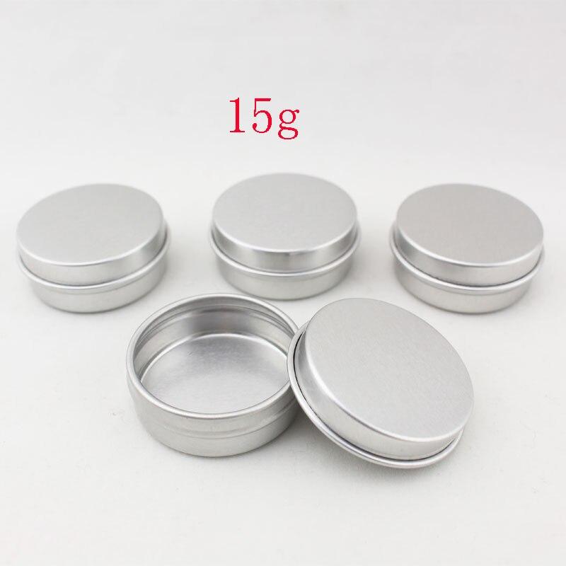 Envase cosmético vacío de aluminio 15g con tapas 15ml pequeño bálsamo labial redondo lata perfume sólido envase cosmético botella de muestra-in Cajas y recipientes de almacenamiento from Hogar y Mascotas on AliExpress - 11.11_Double 11_Singles' Day 1