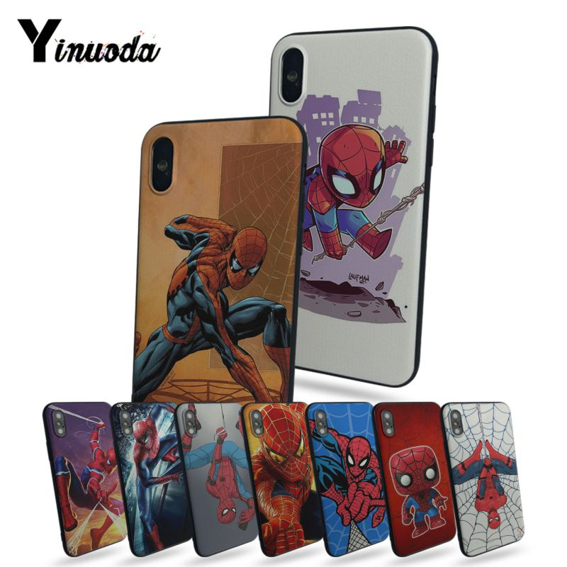 Yinuoda Marvel Comics Spider Man New Personalized print Phone Accessories Case For iphone x 5 5s SE for iphone 7 8 plus 6s plus marvel glass iphone case