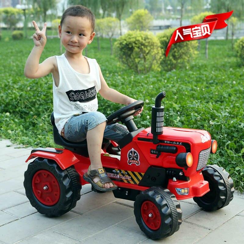 Детский экскаватор каталка игрушки автомобиль четыре колеса Электрический строительный автомобиль для детей кататься на ребенка большой инженерный игрушечный автомобиль years лет - 2