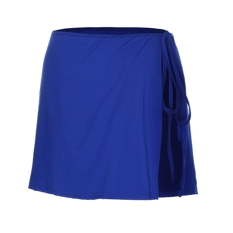 KLV New Fashion Women Skirts Scuba Ladies Mix & Match Plain Colour Swim Beach Skirt Holiday High Waist Wrap Cover Up Skirt 5.8