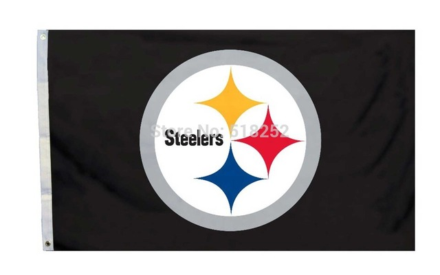 Pittsburgh Steelers Logo Flag 3x5 FT Banner 100D Polyester NFL 148 Free Shipping
