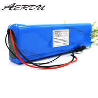 AERDU 7S4P 24v 10Ah electric bicycle motor ebike scooter 29.4v li ion battery pack 18650 lithium rechargeable batteries 15A BMS