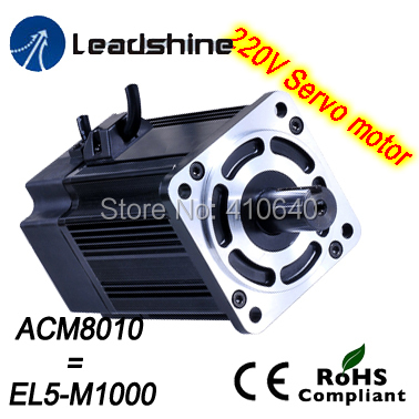 Leadshine 1000 W 220V AC servo motor ACM8010L2H-51-B EL5-M1000 NEMA 32 frame max 5000 rpm and 10.5 Nm torque 2500 Line Encoder new 400w leadshine ac servo motor acm604v60 01 1000 work 60v run 3000rpm 1 27nm encoder 1000 line work with servo driver acs806