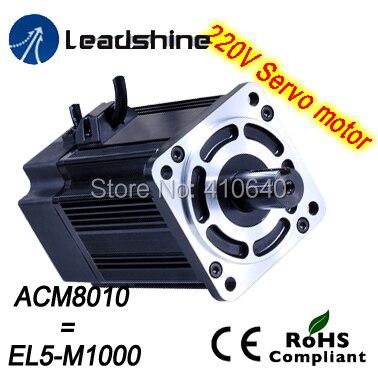 Leadshine 1000 W 220V AC servo motor ACM8010L2H-51-B EL5-M1000 NEMA 32 frame max 5000 rpm and 10.5 Nm torque 2500 Line Encoder leadshine 1000 w 220v ac servo motor acm13010m2f 51 b el5 m1000 1 51 nema51 max 3000 rpm and 14 1 nm torque 2500 line encoder