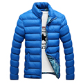 2016 Winter Keep warm Down & Parkas Filling Cotton Thicken Men Coats  Jackets Stand Solid Color Free Shipping MQ421