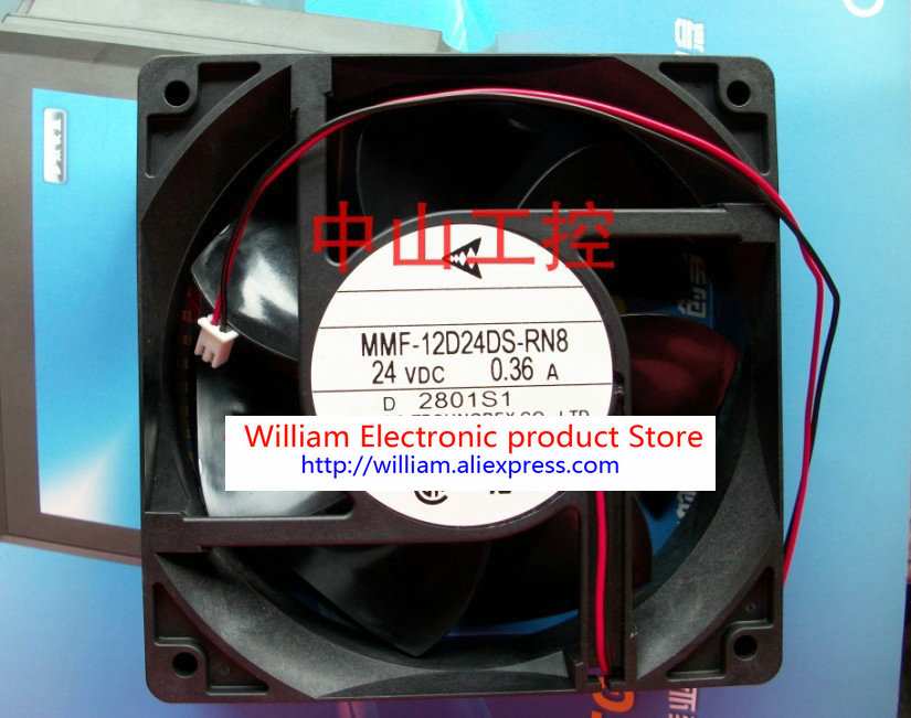 New Original Nidec Inverter fan for Yaskawa G7 / F7 MMF-12D24DS-RN8 24V 0.36A 120*120*38MM new original nidec 12cm ta450dc a34602