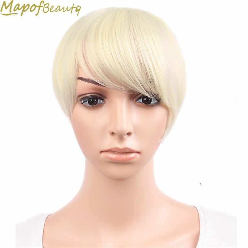 Real thick Natural Bang False Hair Bangs blonde Blue Pink Red auburn Clip In on Synthetic Hair Fringe Heat Resistant MapofBeauty