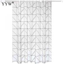 1pcs 3d Large Shower Curtains White Curtain Waterproof Bath Screens Big Bathroom