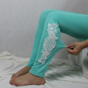 Image 5 - XS 7XL Leggings Women Cotton Lace Decoration Leggings 2020 Leggins Plus Size Long Leggings Size 7XL 4XL 3XL XXL XL L M S 6XL 5XL