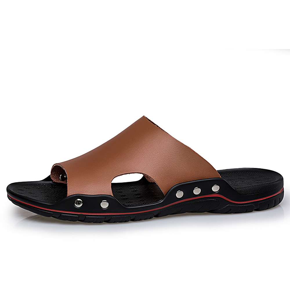 Men Shoes Solid Flat Bath Slippers Summer Sandals Indoor & Outdoor Slippers Casual Men Non-Slip Flip Flops Beach Shoes leopard cool men beach slippers summer 2017 new fashion soft non slip flip flops shoes outdoor flat casual slippers plus size
