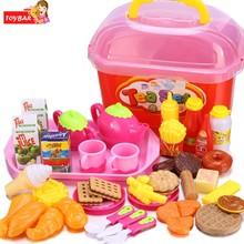 Cute Baby Kids Kitchen Living Pretend Toys Storage Box Set Simulation DIY Kitchenware Chef Cookware Children Funny Toys