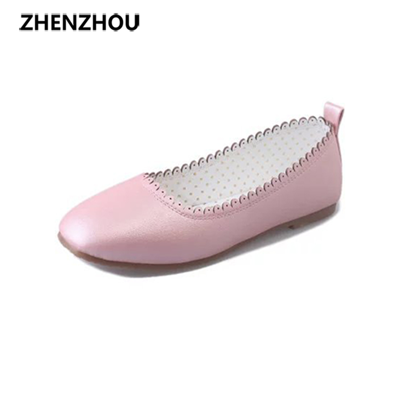 2017Spring and autumn New style Single shoe pink Ladies shoes student flat White shoes On a date lace Coach shoes the spring and autumn new white shoe leather strap female flat shoes pointed deep soft bottom shoes casual student