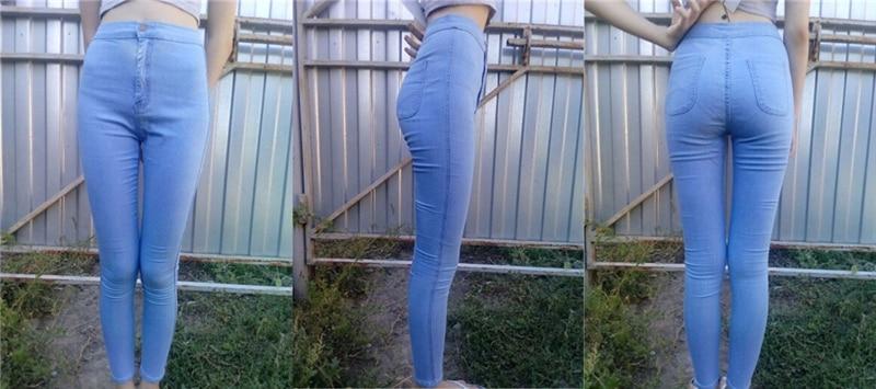 Skinny High Waist Slim Jeans 41
