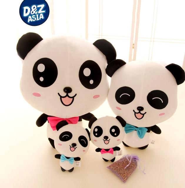 Cute bow rosette big eyes Lavender panda panda plush toy creative pillow doll girlfriends birthday present