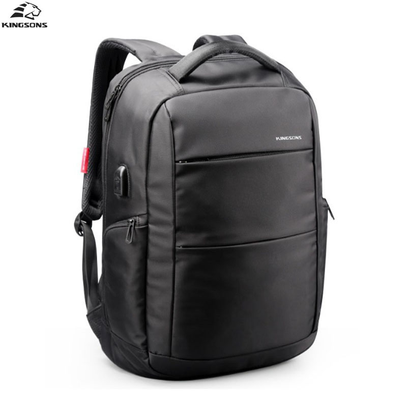 Kingsons Men Backpack Brand USB Charging Designer 15.6 Inch Computer Laptop Waterproof Anti Theft 2018 Women School Bags kingsons external charging usb function school backpack anti theft boy s girl s dayback women travel bag 15 6 inch 2017 new