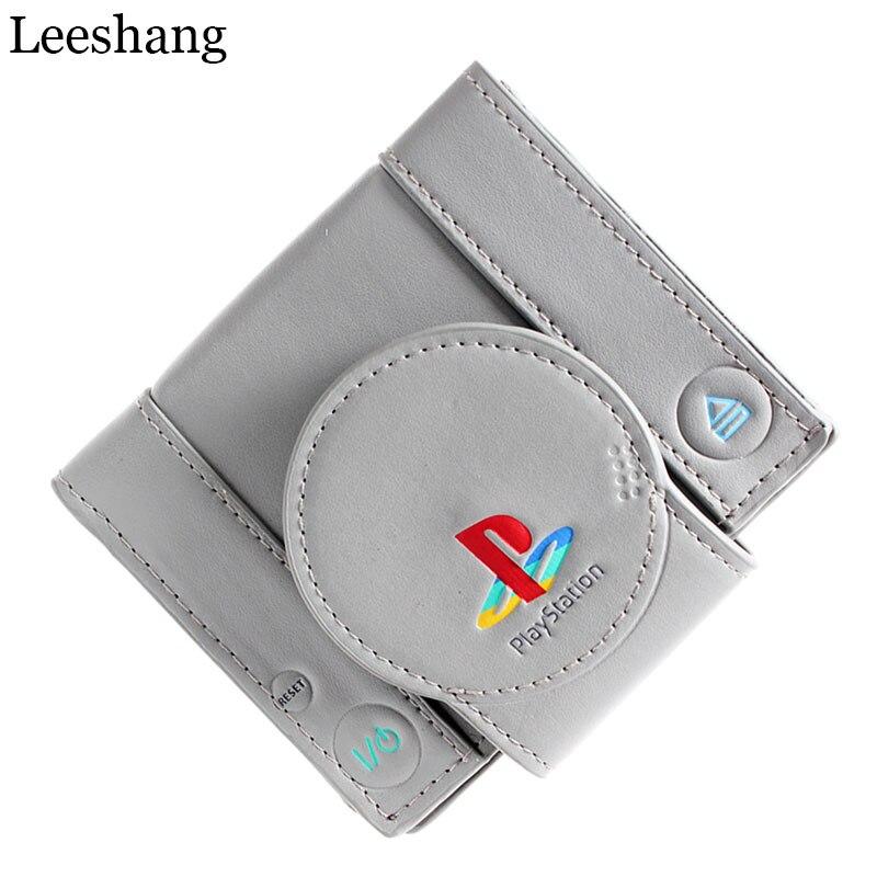 leeshang playstation juego cartera para los jvenes estudiantes de la diseo de moda corto billetera