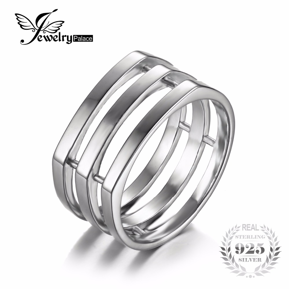 Jewelrypalace 925 Sterling Silver Wedding Band Stackable Anniversary Ring  For Women Engagement Ring Brand New Fine